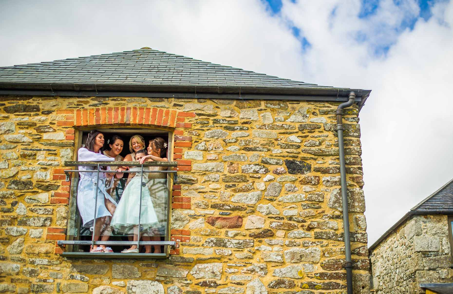 Trevenna Barns Cornwall Wedding Photography Grw